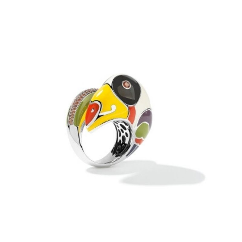 Bague - Femme - Una Storia - Toucan - BG121041 - Gold and Watch