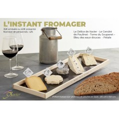 Plateau fromage XAVIER L'INSTANT FROMAGER - DASILVA LEFORT