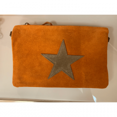 Sac - pochette - étoile - Orange - La Boutique