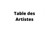 Table des Artistes